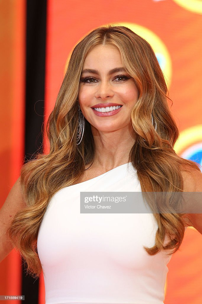 Colombian actress <a gi-track='captionPersonalityLinkClicked' href=/galleries/search?phrase=Sofia+Vergara&family=editorial&specificpeople=214702 ng-click='$event.stopPropagation()'>Sofia Vergara</a> attends the Ace campaign press conference at Four Seasons Hotel on June 26, 2013 in Mexico City, Mexico.
