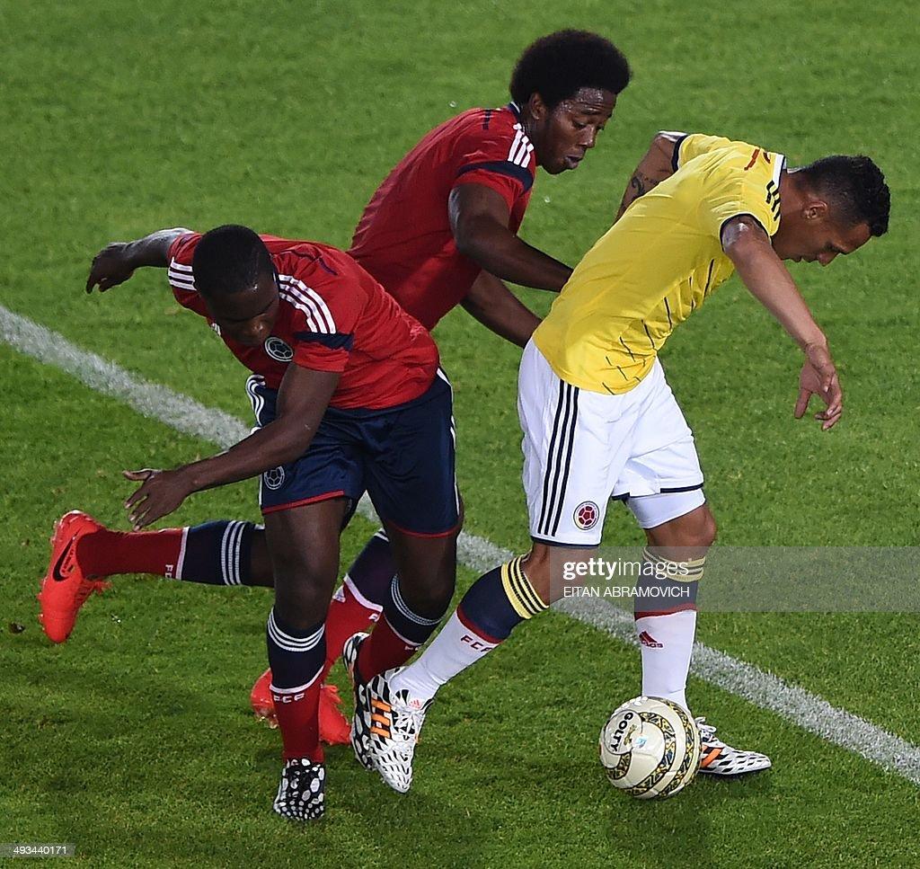 Colombian national team footballers Aldo Leao R Carlos Alberto