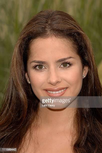 Colombian Singer and Actress Danna Garcia Promotes Soap Opera Pasion de Gavilanes at Antena 3 TV Studios in Madrid