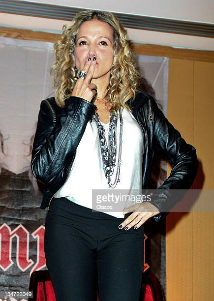 Colombian singer Fanny Lu promotes her new album 'Felicidad Y Perpetua' at the Hotel Presidente on November 22 2011 in Mexico City Mexico