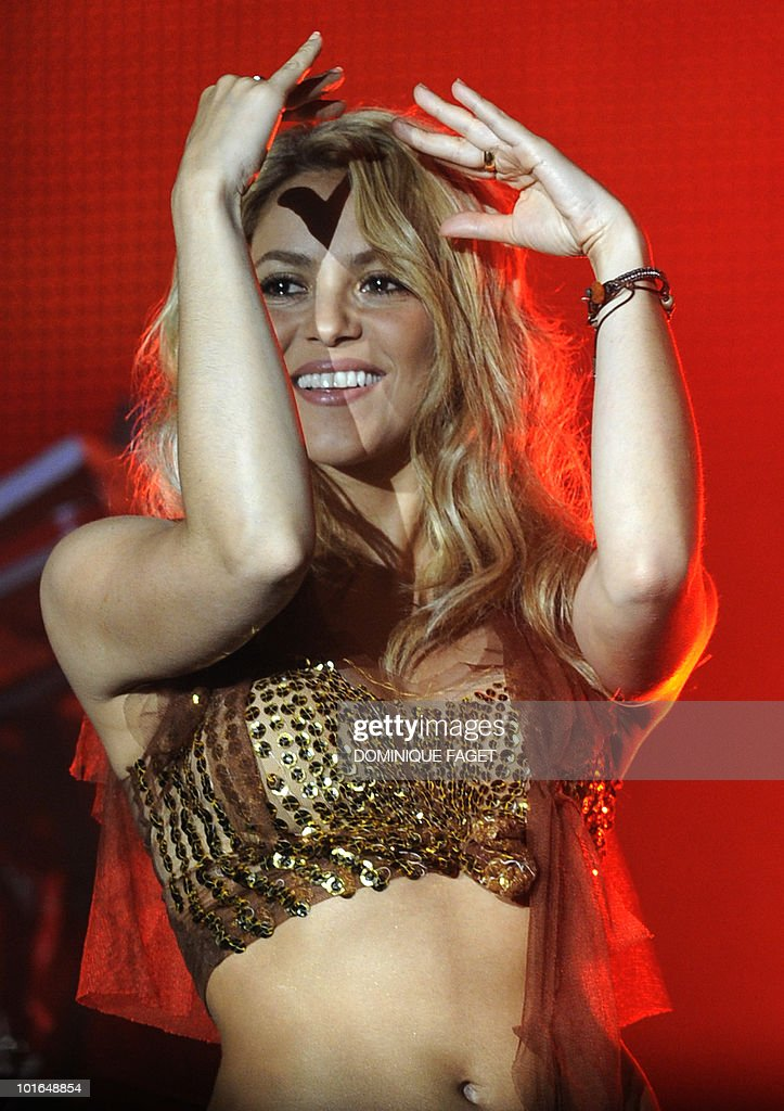 Colombian singer Shakira performs on stage during the 'Rock in Rio' music festival in Arganda del Rey near Madrid on June 5, 2010.