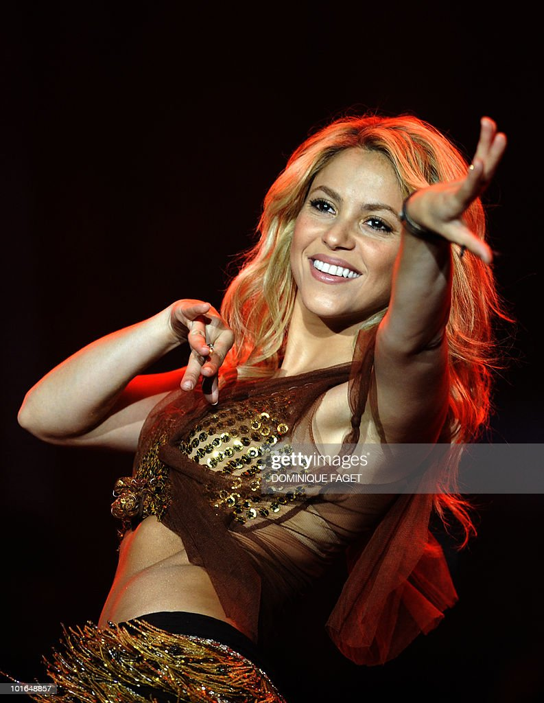 Colombian singer Shakira performs on sta