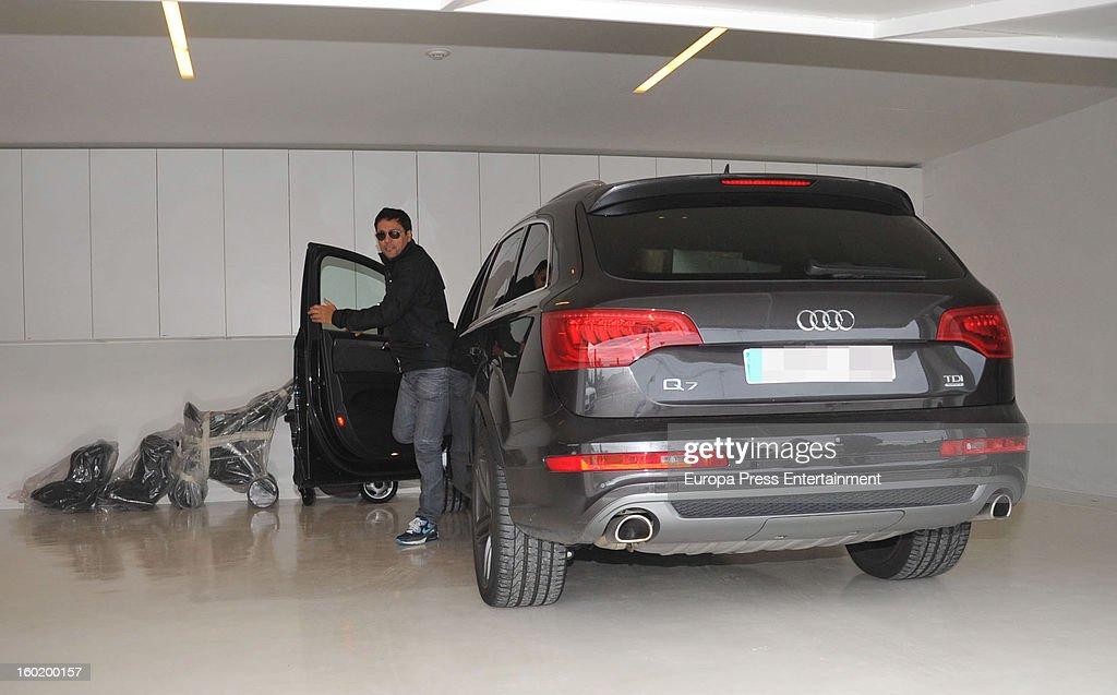 Colombian singer Shakira's brother Tonino Mebarak arrives at Shakira and Pique's home on January 27, 2013 in Barcelona, Spain.