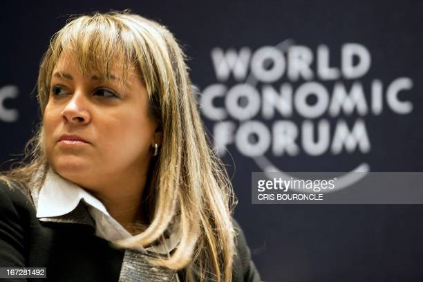 Colombian vice Minister of Tourism Tatiana Orozco takes part in a forum on Travel and Tourism Competitiveness in Peru and Latin America along with...
