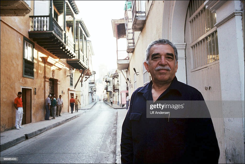 Colombian writer and Nobel prize in literature winner Gabriel Garcia Marquez poses for a portrait session on February 20,1991 in Carthagena, Colombia.