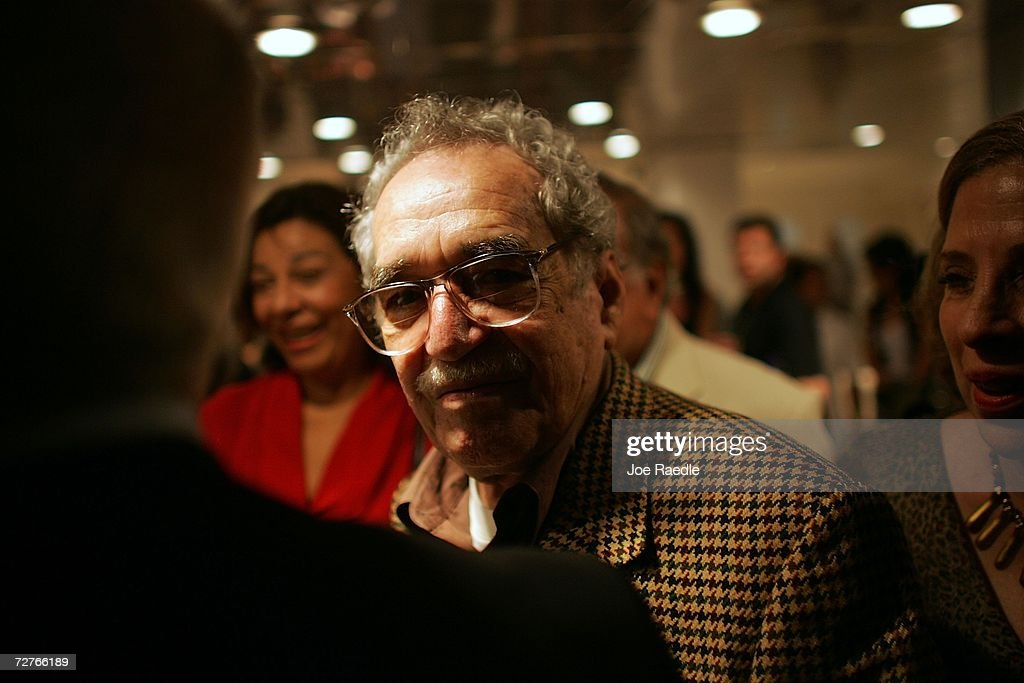 Colombian writer Gabriel Garcia Marquez (C) arrives for the 28th New Latin American Cinema Festival at the Karl Marx theatre December 5, 2006 in Havana, Cuba. The island nation continues to wait for a glimpse of President Fidel Castro, who has ruled Cuba since 1959, he temporarily transferred his powers as president to his younger brother Raul Castro, the defense minister, due to his ailing health on July 31. Since that time he has been seen by the public only in videos and photographs released by the government.