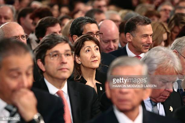ColombianFrench politician and anticorruption activist Ingrid Betancourt attends the Nobel Peace Prize award ceremony at the City Hall in Oslo on...