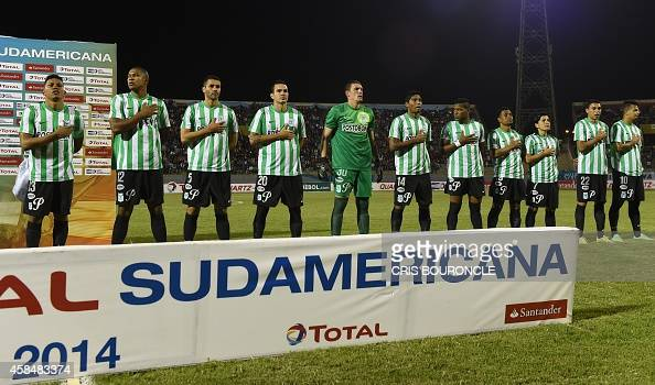 Colombias Altletico Nacional Players Sing Their National