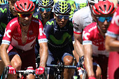 Colombia's Nairo Quintana rides in the pack during the 160 km fifteenth stage of the 103rd edition of the Tour de France cycling race on July 17 2016...