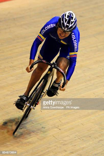 Colombia's Orrego Diana Maria Garcia competes in the Women's Keirin
