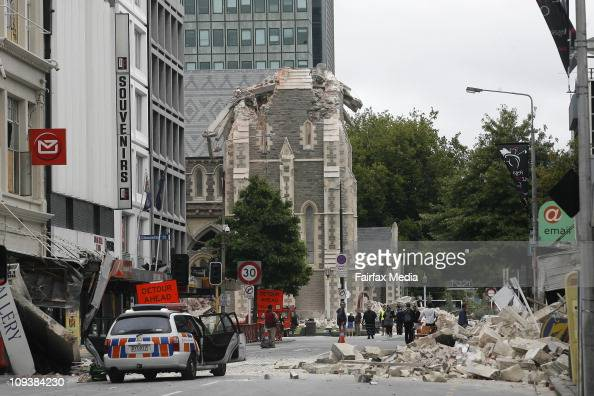 Colombo Street in central Christchurch after a 63 earthquake on February 22 2011 The quake which struck around 1pm local time was an aftershock of a...