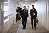 Colonel Jeffrey Kulmayer US Army Country Director for France Belgium and Luxembourg arrives to brief members of the Senate Foreign Relations...