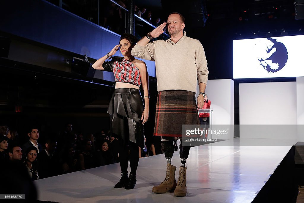 Colonel Martha McSally and Saergent Dan Nevins attend the 2013 From Scotland With Love Charity Fashion Show>> at Stage 48 on April 8, 2013 in New York City.