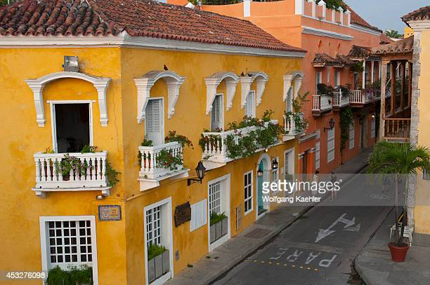 Colonial architecture in the walled city of Cartagena Colombia a Unesco World Heritage Site