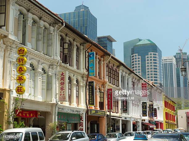 Colonial buildings, China Town, Singapore, Asia