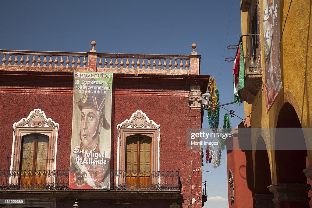 Colonial buildings in San Miguel de Allende. : Stock Photo
