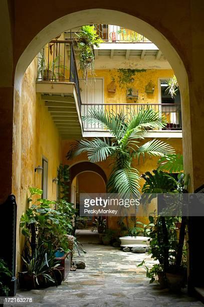 Colonial kubanische Courtyard Architektur Havanna, Kuba