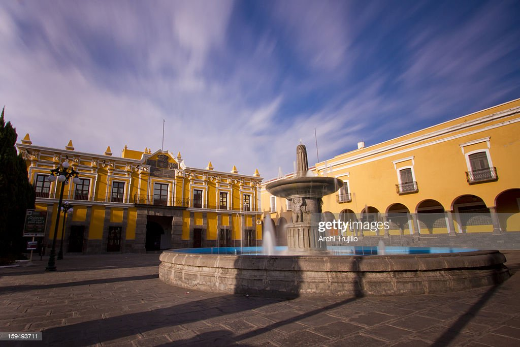 Colonial plaza and fountain