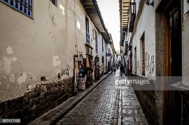 Colonial streets of Cusco, Peru in South America