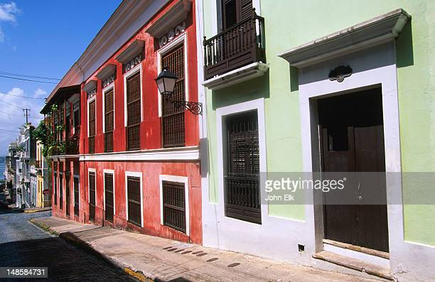 Colonial style houses.