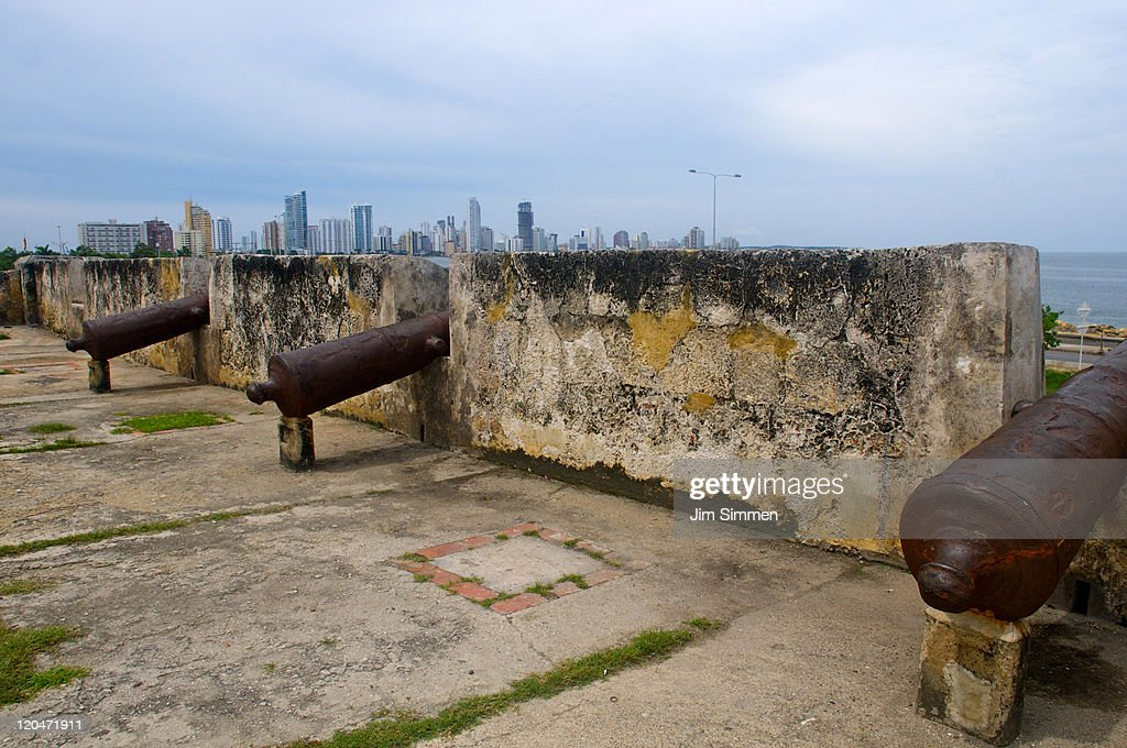 Colonial walled city : Stock Photo