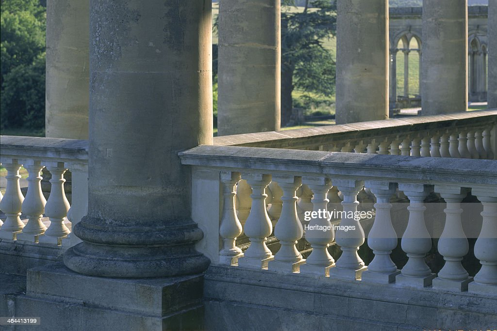 Colonnade at Witley Court Great Witley Worcestershire 1996 A detail of one of the porticoes on the south front In the 19th century Witley Court was...