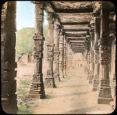 Colonnade Delhi India late 19th or early 20th century Lantern slide