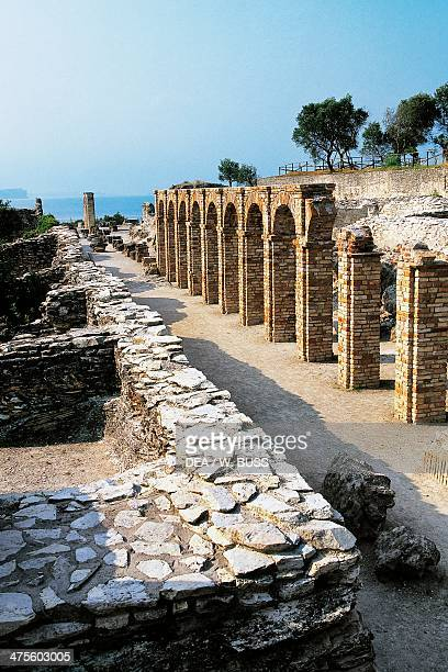 Colonnade Grotto of Catullus Roman villa Sirmione Lombardy Italy Roman civilisation 1st century BC1st century AD