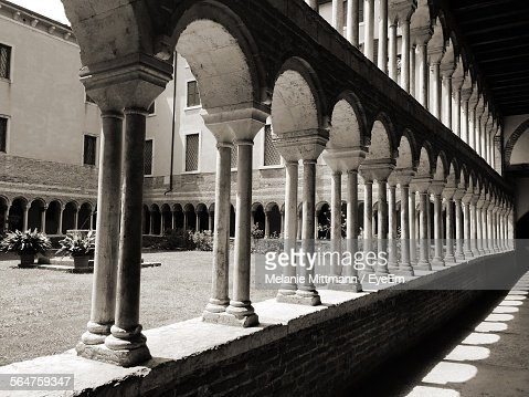Colonnade Of Historical Building