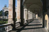 Colonnade of Palazzo Doria Pamphilj 16th century Genoa Liguria Italy