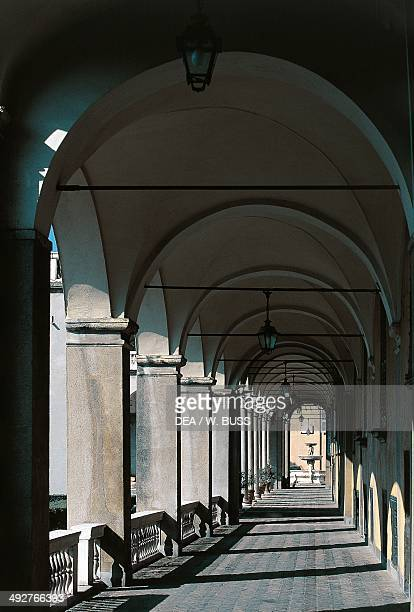 Colonnade of Palazzo Doria Pamphilj 16th century Genoa Liguria Italy