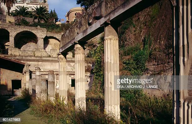 Colonnade of the Palaestra Herculaneum Campania Italy Roman civilisation 1st century BC