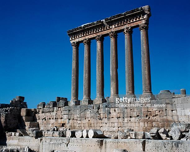 Colonnade of the Roman Temple of Jupiter Baalbek Lebanon Roman civilisation first half of the 1st century AD