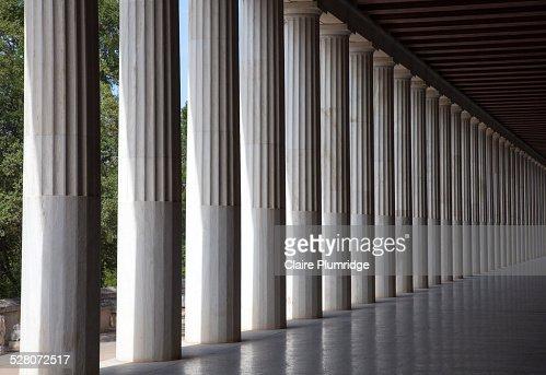 Colonnade of the Stoa of Attalos, Greece