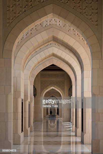 Colonnade of the Sultan Qaboos Grand Mosque