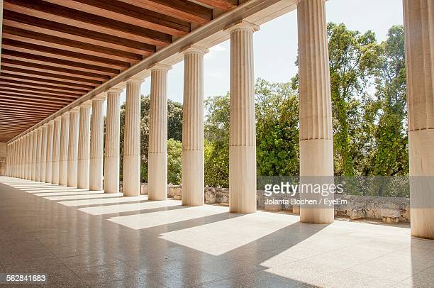 Colonnade On Historic Building