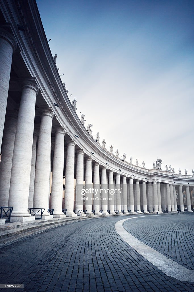 Colonnades In St Peters Square Vatican City Stock Photo