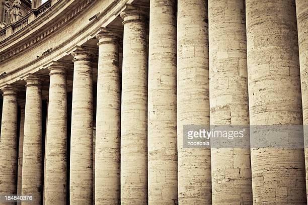 Colonnades en Ciudad del Vaticano, Roma
