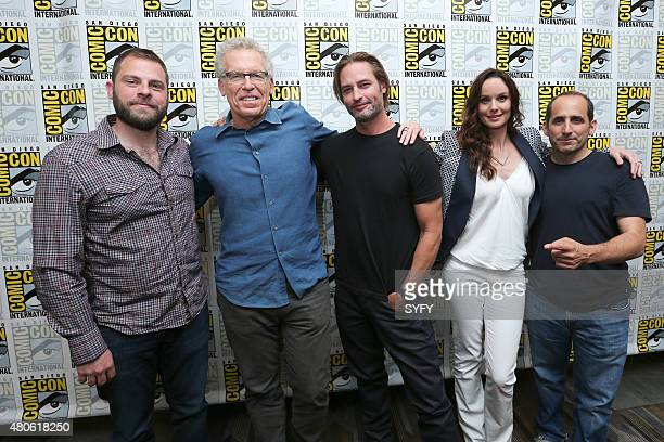 DIEGO 'Colony Panel Cast Signing' Pictured Ryan Condal Executive Producer Carlton Cuse Writer and Executive Producer Josh Holloway Sarah Wayne...