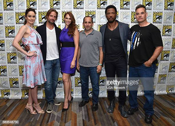 DIEGO 'Colony Press Room' Pictured Sarah Wayne Callies Josh Holloway Amanda Righetti Peter Jacobson Tory Kittles Adrian Pasdar