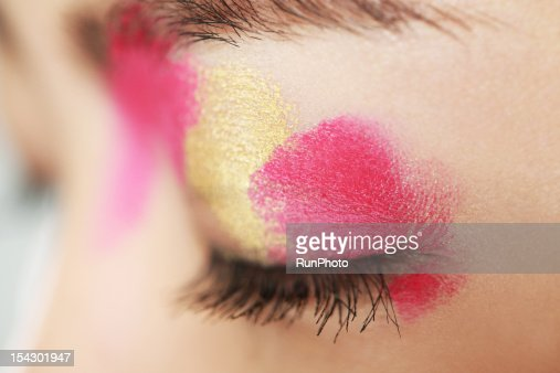color beauty,eyes close-up : Stock Photo