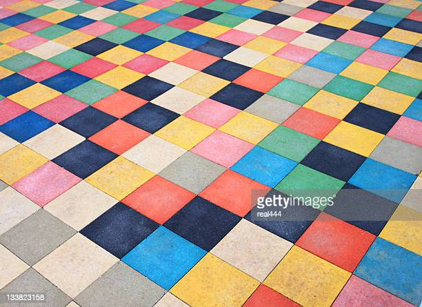 Tapis en Color-Block