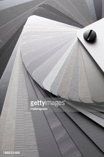 Color card. Shades of gray.