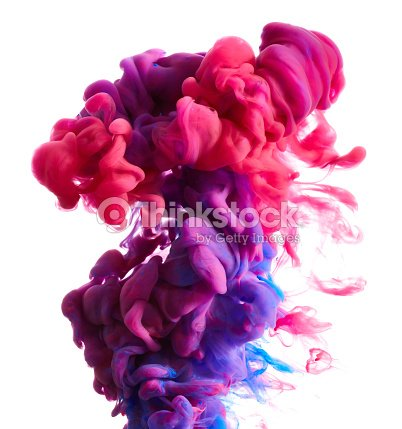 Color drop in water : Stock Photo