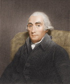 Color engraving portrait of British chemist and physicist Joseph Black mid to late 18th century
