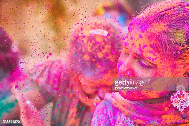 Farbe Explosion in Holi Festival in Indien
