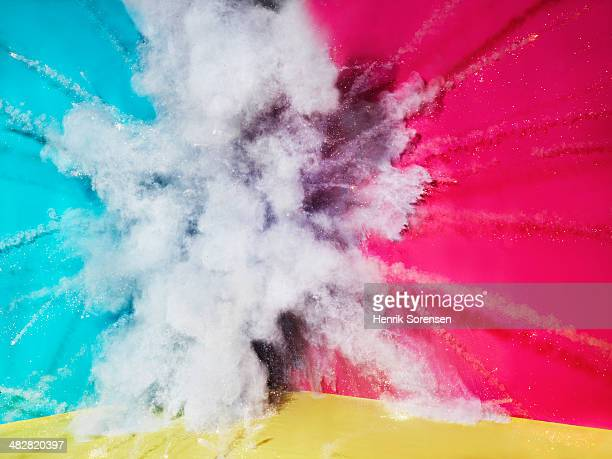 Color explosion on red/blue/yellow background