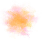 Light colors of pink, orange and yellow exploding on white background.