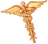 color illustration of caduceus