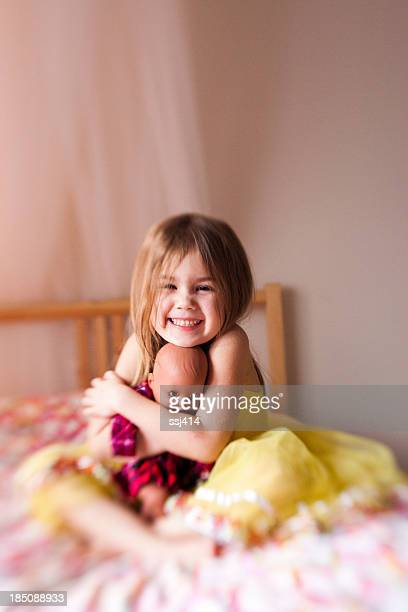 Color Lens baby image of little girl and her doll